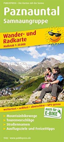 Paznauntal, Samnaungruppe: Wander- und Radkarte mit Ausflugszielen & Freizeittipps, wetterfest, reißfest, abwischbar, GPS-genau. 1:35000 (Wander- und Radkarte: WuRK)