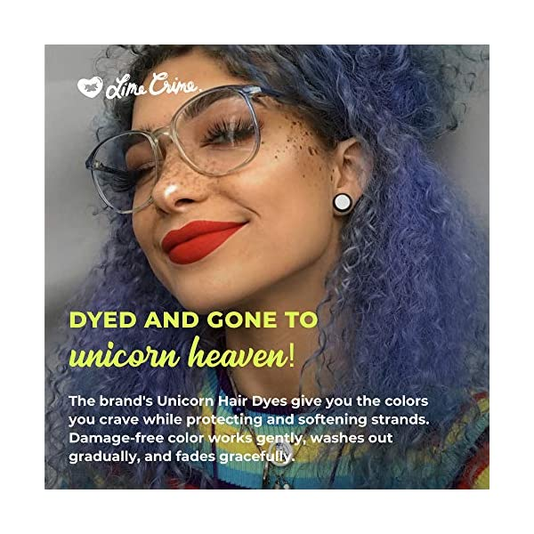Lime Crime Unicorn Hair Dye, Blue Smoke - Navy Blue Fantasy Hair Color - Full Coverage, Ultra-Conditioning, Semi-Permanent, Damage-Free Formula - Vegan - 6.76 fl oz 6