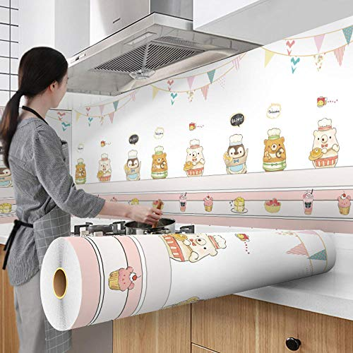 Tapeten 60X300Cm Wallpaper Cartoon Modern Style For Kitchen Living Room Desktop Waterproof Furniture Self-Adhesive Paper Home Decoration-Style_184_60Cm_X_3M
