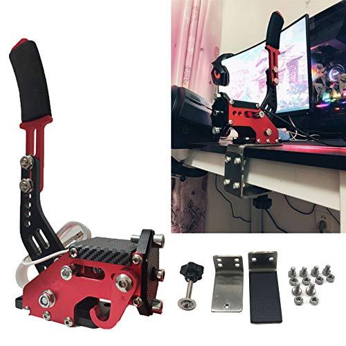 Frunimall PC-Handbremse für Rennspiele, USB 14-Bit Simuliert Linear Handbremse G25/27/29 mit Klemme schwarz für PC-System (rot)