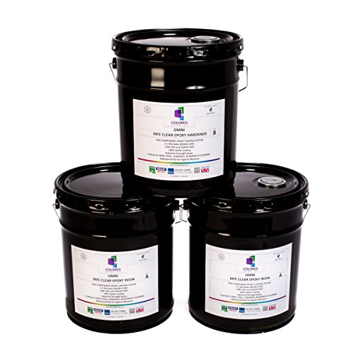 colored epoxies 15GLKTCL Clear 15 Gallon Kit Resin and Hardener