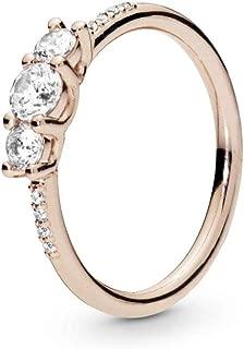Sparkling Elegance PANDORA Rose Ring - 186242CZ