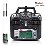 Flysky FS-i6X Radio Transmitter (10CH, 2.4GHz, AFHDS 2A) RC Transmitter with Flysky ia6b RC Receiver for FPV Racing RC Drone Quadcopter by LITEBEE (Mode-1 Right Hand Throttle)