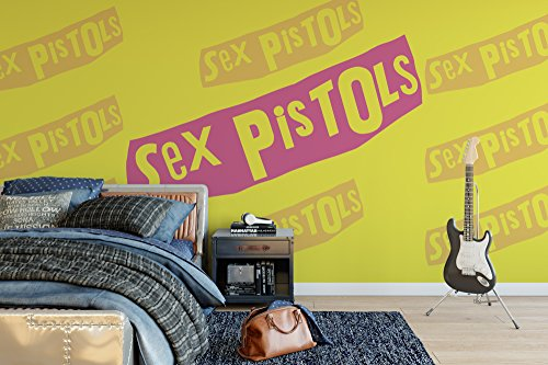 Officially Licensed Sex Pistols - Logo - Wall Mural Wallpaper 4m (W) x 2.5m (H)