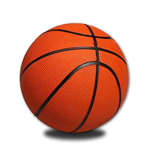 Pelota de Baloncesto Portátil Divertido Baloncesto Mini Baloncesto Amarillo Entrenamiento De Goma Tamaño Pequeño para Interior Mini Baloncesto Juego Deportivo