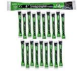 Cyalume SnapLight Green Glow Sticks – 6 Inch Industrial Grade, High Intensity Light Sticks with 12 Hour Duration (Pack of 20)
