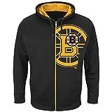 Majestic Boston Bruins Interference Full-Zip Hoodie NHL Sweatshirt -