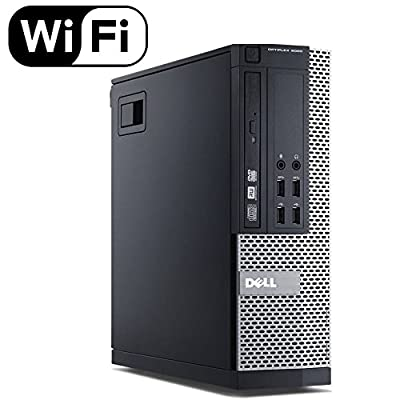 Fast Dell Optiplex 9020 Small Form Business Desktop Mini Tower Computer PC (Intel Core i5-4570, 8GB Ram, 256GB SSD, WIFI, DVD-RW) Win 10 Professional (Renewed)