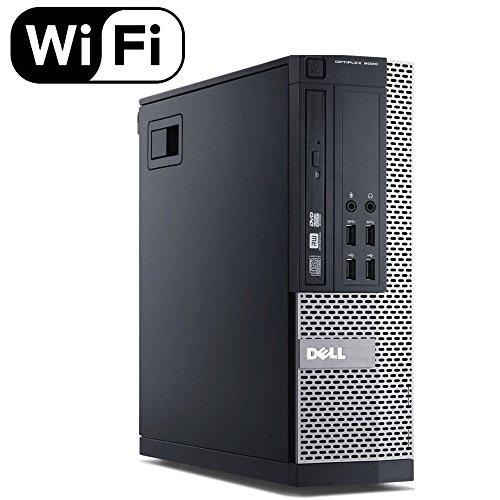 Dell Optiplex 9020 Small Form Business Desktop Tower PC (Intel Quad Core i7 4770, 16GB Ram, 240GB Brand New SSD, WIFI, Dual Monitor Support HDMI plus VGA, DVD-RW, WIFI) Win 10 Pro (Renewed)