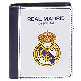 Real Madrid White RM Tarjetero, 10 cm, 0.08 litros, Blanco