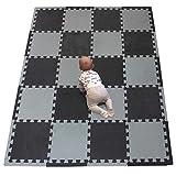 YIMINYUER Alfombra puzles para Bebe Puzzle Infantil Suelo Piezas Goma eva ninos de Suelo Grande Infantiles Bordes Negro Gris R04R12Z301020