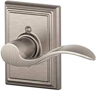 Schlage Accent Lever with Addison Trim Non-Turning Lock in Satin Nickel - Right Handed - F170 ACC 619 ADD RH