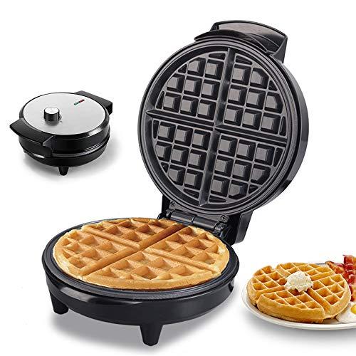 Plancha para Waffle, UMYMAYDO1 Máquina Eléctrica Gofres, Doble Cara Revestimiento Antiadherente, 7 Temperatura Ajustables para Paninis, Desayunos Rápidos, Cocina Doméstica, Tostadas, 1000W EU