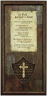 Carpentree The Full Armor of God Framed Art, 7 by 13 by 1-Inch