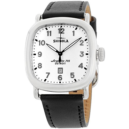 Shinola Men's The Guardian 41mm Watch, Black/Milky White, One Size