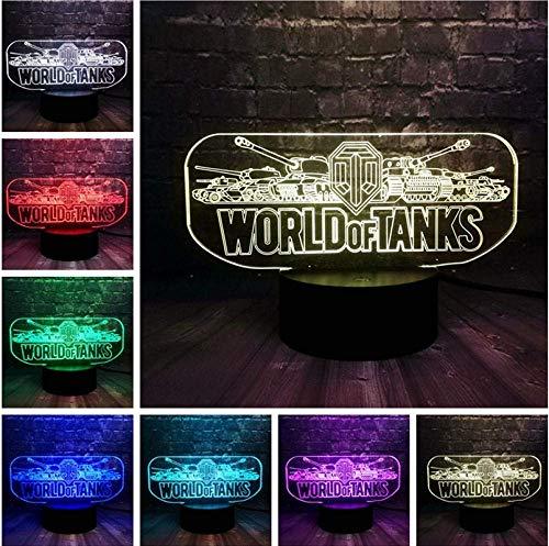 Hot spel Prop World Tank Car Creatieve LED slaapkamer decoratie 7 kleuren veranderende glans sfeerverlichting nachtlampje vakantie vrienden leuk cadeau