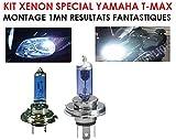 Genial raddoppiate la potenza dei fari della vostra Yamaha TMAX in 5MN Kit Xenon Special Yamaha T-Max TMAX La potenza dello Xenon con semplice cambiamento di lampada. H7 + H4 100 W.
