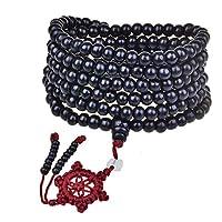 generies perline in legno rosso bracciale uomo/donna 6mm buddismo 216 pezzi rosario in legno bodhi sandalo perle di preghiera bracciale tibetano mala