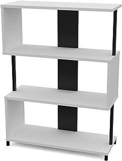LEVIRA – Rayonnage, Étagère, Liri - 80 x 108 - Noir et Blanc