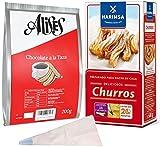 Alises Spanish Hot Chocolate 200g and Churro Mix 500g with Piping Bag Kit