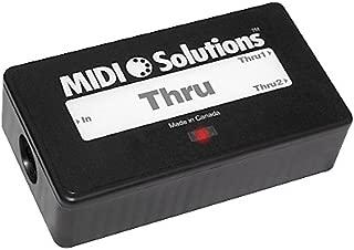 MIDI Solutions MultiVoltage Thru 1-in 2-out MIDI Through Box