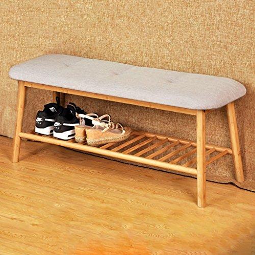 Xiejia Bambou pour Le Tabouret de Chaussure, Tabouret de Rangement pour Les Chaussures de Porte, Banc de Chevet, Porte Porte Tabouret de Chaussure (Taille : 110 * 36 * 46cm)