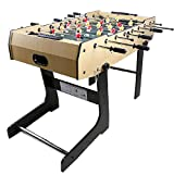 CJVJKN Folding Table Football, Indoor Game Table Kids Family Play Sports Entertainment Toys Size 121 79 61 cm