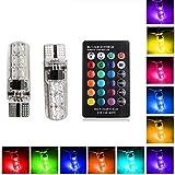 Silicone 2x T1050506SMD RGB auto larghezza lampada auto strobo luci colorate luci targa luce