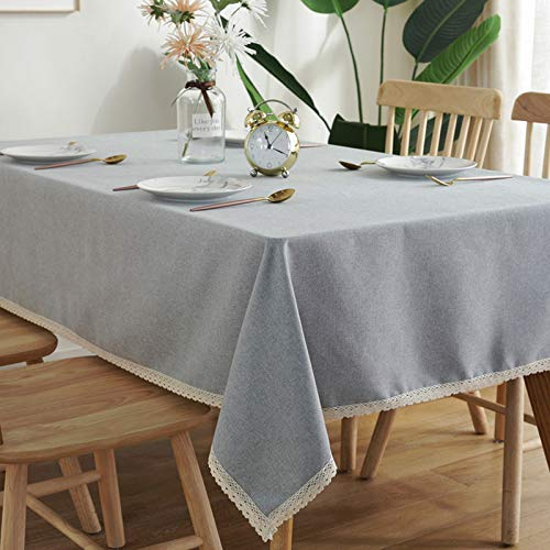 Table Cloth Linen & Cotton Tablecloths Rectangular with Tassel for Dining Table Cover 100CM