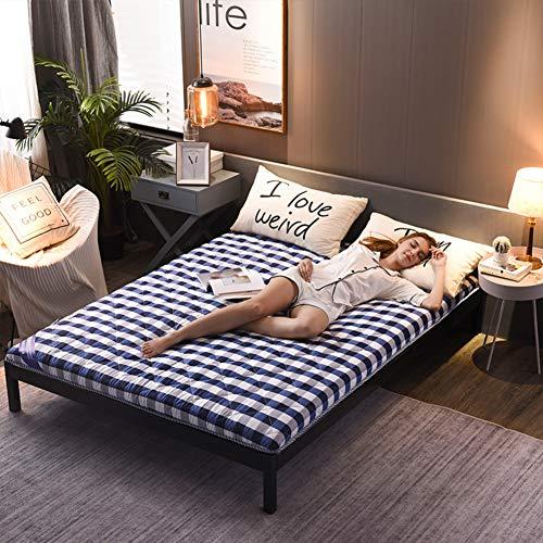 Cotone Topper Materasso, Traspirante Soft da Terra Materassi Futon Giapponese Pieghevole Thick Tatami Dormire Mat per Camera da Letto Dormitorio-Blu 120x190cm(47x75inch) 120x190cm(47x75inch)