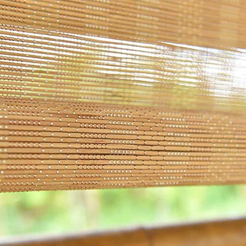 Mr.T/Retro rieten rolluik Bamboe jaloezieën theehuis venster rolluiken, bamboe roll up blind voor balkon/deuren/tuin/patio, zowel binnen als buiten, eenvoudig te installeren Houten rolluik