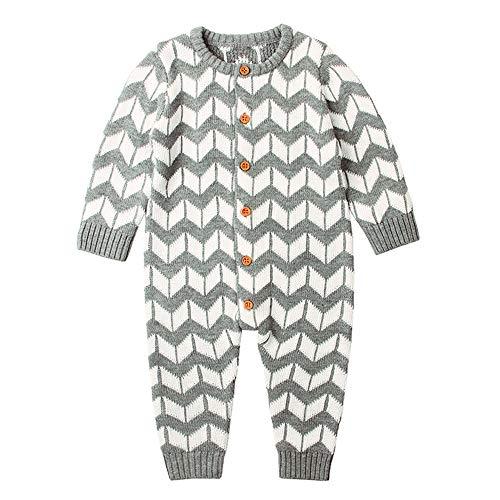 Lenfesh Baby Mädchen Gestrickte Winter Strampler mit Kapuze Overall Outfits Kleidung Weihnachten warme Pullover für die Herbst und Winter