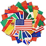EXQUISITE CRAFTSMANSHIP - The string flag is made of full polyester, uses standard production, fine workmanship with well-hemmed edge. Our international bunting is washable, recyclable and disassembly. This international flag has good printing effect...