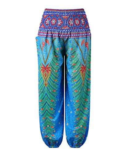 YoungSoul Pantalones Harem Niños Niñas, Pantalón Bombacho para Yoga Danza, Pantalones Baggy Estampados de Verano