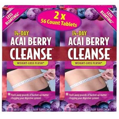 Applied Nutrition Acai Berry Cleanse 56 Count (Pack of 2) by Applied Nutrition