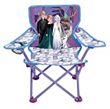 Jakks Pacific Disney Frozen 2 Camp Chair for Kids, Portable Camping Fold N Go Chair with Carry Bag