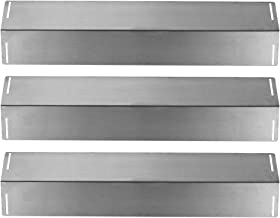 SHINESTAR Grill Replacement Parts for BBQ Grillware GGPL2100, Charbroil 463211512, Master Forge, Uniflame and Others, 3-Pack 16 1/2 inch Stainless Steel Heat Shield Plate Tent Burner Cover(SS-HP016)