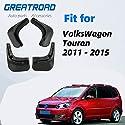 Gemmry 4 Stück Auto Schmutzfänger, ABS-Kunststoff Vorne und Hinten Kotflügel Spritzschutz Kit für VW Touran 2011-2015 Car Karosserie-Styling