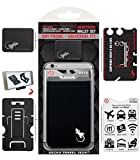 The Gecko Adhesive Card Wallet for Cell Phones, Ultra Slim & Custom Designed (Schwarz-Weiss)