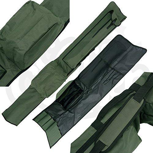 NGT Carp QuickFish 3 Made 3 Unmade Rod Holdall for 12ft Rods with Pockets