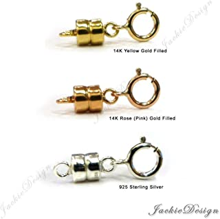 Mix Yellow Gold Filled Rose (Pink) Gold Filled Sterling Silver Magnetic Clasps Converter