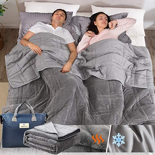 Weighted Blanket 25lb for Adult 80 x87 Queen Size Weighted Blanket with Double Sided Design product image