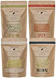 Appel Foods - Nut Crumbs - Bread Crumb Alternative - Gluten Free - Sugar Free - Low Carb - Low Sodium - Raw, Premium Nuts - Variety Pack