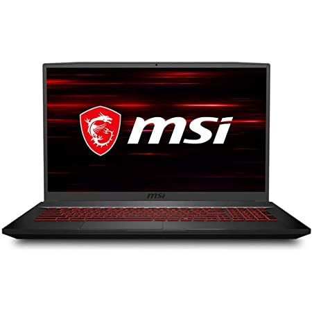 """MSI GF75 Thin Gaming Laptop, 17.3"""" FHD 144Hz IPS Screen,Intel Core i5-10300H Processor Up to 4.50 GHz, NVIDIA GTX 1650Ti Graphics, 8GB RAM,512GB PCIe SSD, Win10 Home+2weeks SkyCare Support"""