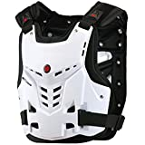 TINTON LIFE Knight Equipment Motocross Armor Motorcycle Body Armor Adult Chest Protector Vest Protector (White)