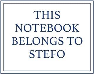 This Notebook Belongs to Stefo