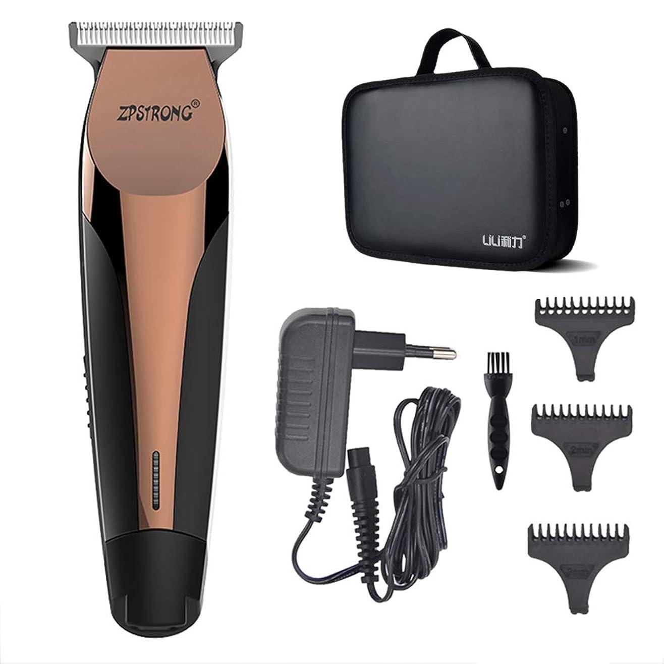 人柄可動式邪魔するバリカン収納ケース付きキャリングケースバッグキット男性のための電気ヘアトリマー髭剃り機0.1ミリメートルカッター理髪散髪ツール100-240ボルト