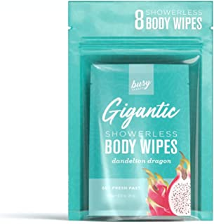 Busy Beauty | Gigantic Body Wipes | Showerless Cleaning | Plant-Based, Aluminum-Free, Natural | All Skin Ty...