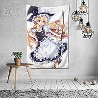 霧雨 魔理沙3 タペストリー オシャレ 3 D印刷ウォールアート 多機能 ホーム装飾 個性 インテリア 壁飾り 背景布