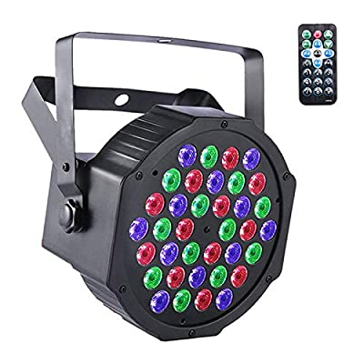 UKing Stage Lights 36 LED Par Can Disco Lights with Wireless Remote RGB Wash Lights DMX 7 Lighting Modes for DJ Club Wedding Party Light